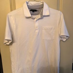 Like new white polo with pocket